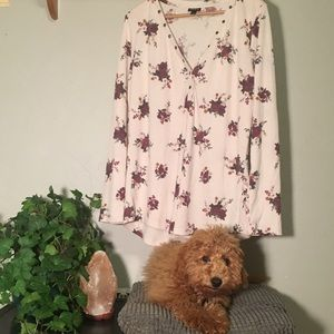 Torrid long sleeve floral shirt
